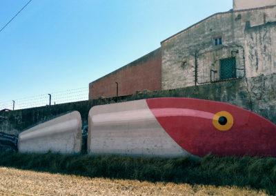 Mural elaborado por Ampparito. / Foto: www.villaherreros.es