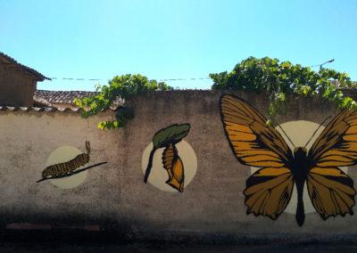 Mural elaborado por Decoma para la Asociación Regional Comunidad Viva Castilla y León. / Foto: www.villaherreros.es