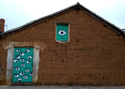 Mural elaborado por las jóvenes de la ACJ Sin Fronteras. / Foto: www.villaherreros.es