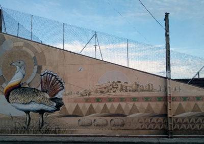 Mural elaborado por Joaquinvila. / Foto: www.villaherreros.es