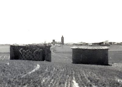Una vista de Villaherreros desde dos antiguos palomares. / Foto cedida por: Marta Díez