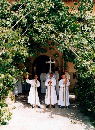 Comienzo de una procesión. / Foto cedida por: Marta Díez
