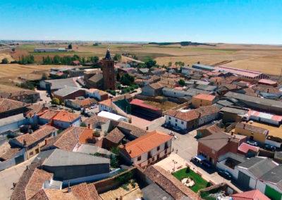 En verano, Villaherreros visto desde el aire. / Foto: Miguel Ángel Delgado