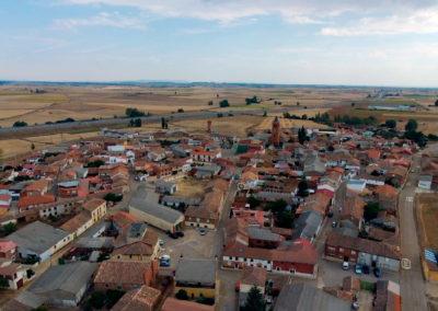 Vista de Villaherreros desde el oeste. / Foto: Miguel Ángel Delgado