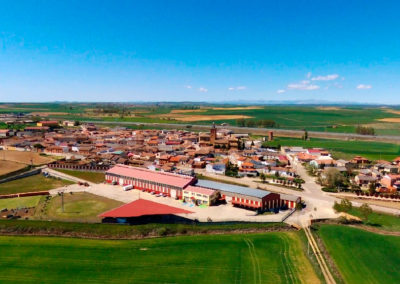 Vista de Villaherreros desde el sur. / Foto: Miguel Ángel Delgado