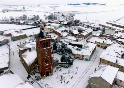 Villaherreros nevado. / Foto: Daniel Díez