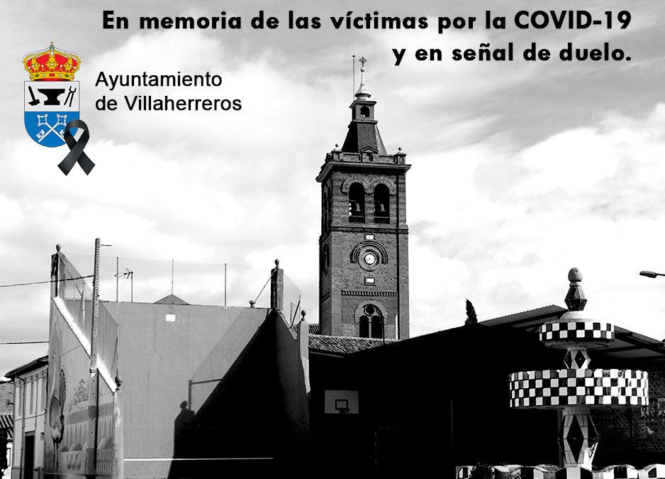 El Ayuntamiento de Villaherrero se suma al luto oficial por los fallecidos con COVID-19
