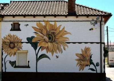 Mural elaborado por Escapart Studio. / Foto: www.villaherreros.es