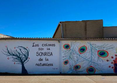 Mural elaborado por la AJ Sin Fronteras. / Foto: Ana Belén Rodríguez