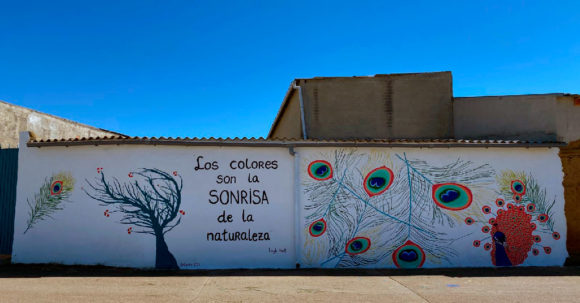 Mural-Pavo-Real-AJ-Sin-Fronteras-Villaherreros