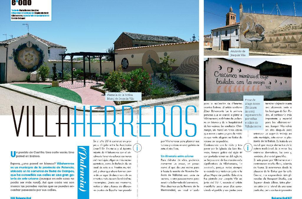 Los murales de Villaherreros protagonizan un reportaje en ExPERPENTO Magazine