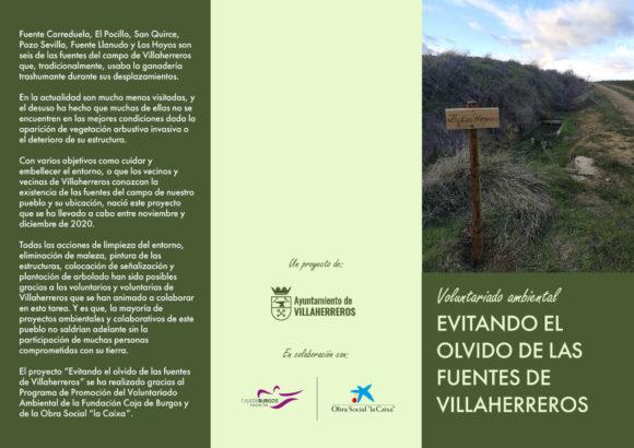 Tríptico Fuentes Villaherreros Cara Exterior