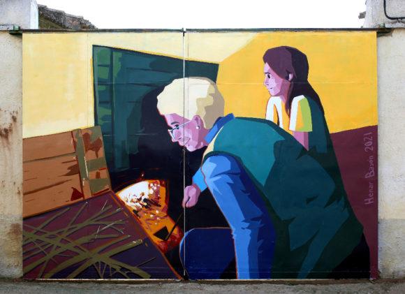 Mural Enroje Villaherreros Henar Bayón